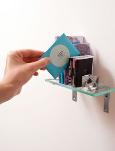 A complete archival miniature set of ten zines with glass shelf, edition of 5 by Robin Cameron