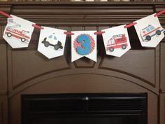Emergency Vehicles Birthday Party Mini Banner by PartyByDrake