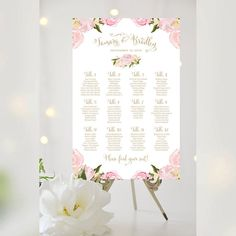 #Weddings #seating #chart #printable #signs #template #affordable #bridal #blooms