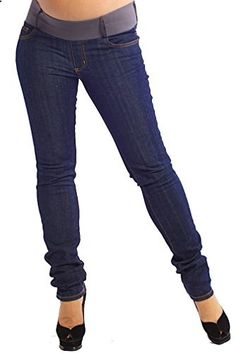 085a51249e8b5 Maternal America Skinny Maternity Jeans Blue Wash X-Large Go to the website  to read