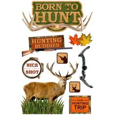 Paper House3D Stickers, Born To Hunt