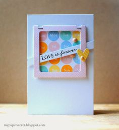 Love Is Forever Card by Cristina Kowalczyk for Papertrey Ink (February 2014)