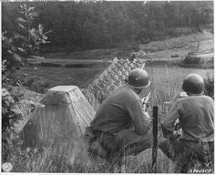 Deep in occupied Europe, US troops have now reached the Siegfried Line, defences built along French-German border.