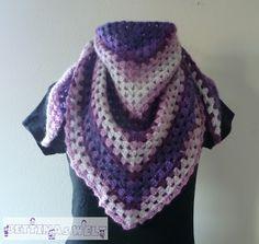 40 Besten Half Granny Square Shawl Bilder Auf Pinterest Crochet