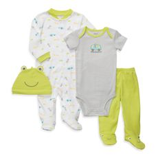 Carter's® 4-Piece Green Frog Outfit Set - buybuy BABY