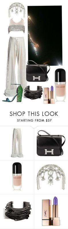 """cleopatra"" by bourgeoisie-xx ❤ liked on Polyvore featuring Ann Demeulemeester, Hermès, Marc Jacobs, Miss Selfridge, Lynn Ban and Yves Saint Laurent"