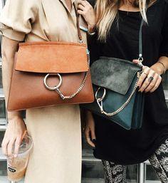 Street chic with Chloe bags. Fall Handbags, Burberry Handbags, Prada Handbags, Luxury Handbags, Cheap Handbags, Designer Handbags, Burberry Tote, Designer Bags, Chloe Bag