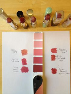 Soft Autumn hues: lipstick shades