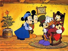 minnie mouse mickey mouse scrooge mcduck & tiny tim from mickey's christmas carol Disney Christmas Movies, Mickey Mouse Christmas, Christmas Cartoons, Christmas Books, Christmas Fun, Xmas Movies, Minnie Mouse, Disney Holidays, Holiday Movies