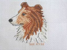 Collie Dog - Square stitched for SOLAK (Stitches of Love and Kindness - Stitched August 2013