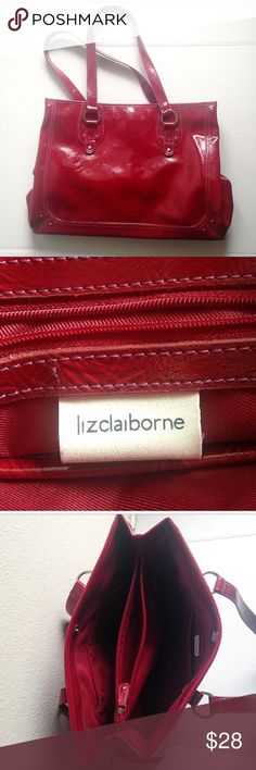 Liz Claiborne Red Large Handbag Only used once Liz Claiborne red purse! This statement bag is exactly what your outfit needs! Liz Claiborne Bags