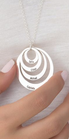 Mom or Grandma will LOVE this Christmas Gift Personalized discs necklaces - Up to 40% OFF Guaranteed Christmas Shipping