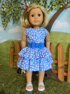 """American Girl doll clothes dress - 18"""" doll clothes dress by SewCuteJune on Etsy"""