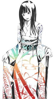 Tags: Anime, Touhou, Houraisan Kaguya, Straight Bangs, Spot Color, Nihonga, Sawasawa