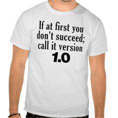 version 1.0 funny geek t-shirt