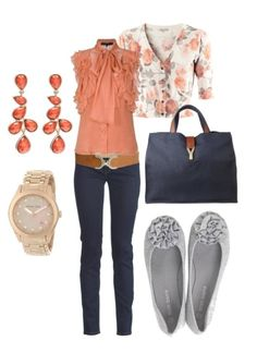 coral. minus the belt....plus a little longer shirt for my freakishly long torso.