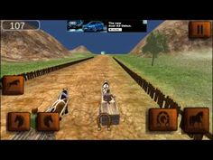 Horse Cart Racing Simulator 3D android game first look gameplay español