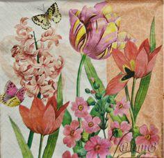 Купить салфетка для декупажа цветы тюльпаны праздник принт - разноцветный, салфетки декупаж, тюльпан тюльпановый