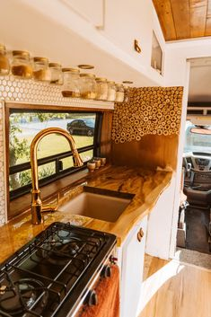 Van Life Discover DIY Self Built Van Conversion: 2017 Ford Transit - Nikki Bigger I self-built this 2017 Ford Transit with my family! It took us a whole month of hard work but this van conversion is now my beautiful home! Van Conversion Interior, Camper Van Conversion Diy, Van Interior, Camper Interior, Ford Transit Camper Conversion, Van Conversion With Bathroom, Van Conversion Kitchen, Ford Transit Campervan, Sprinter Van Conversion