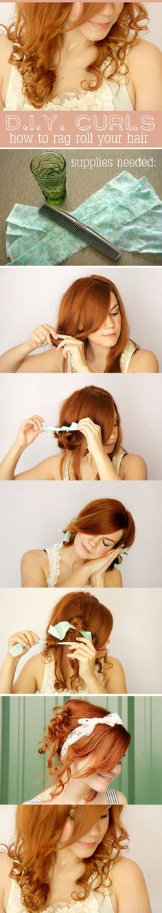 how to rag roll your hair <3