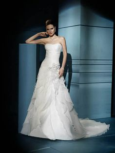 Multi-Tiered A-Line Nuptial Gown of Corset Closure