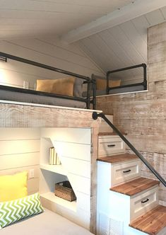 Deciding to Buy a Loft Space Bed (Bunk Beds). – Bunk Beds for Kids Bunk Bed Rooms, Bunk Beds Built In, Modern Bunk Beds, Bunk Beds With Stairs, Cool Bunk Beds, Kids Bunk Beds, Bedroom Loft, Bedroom Decor, Custom Bunk Beds
