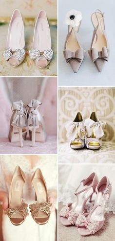 Put a bow on it! Bow Bridal Shoes   onefabday.com