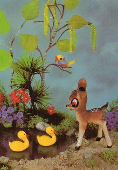 Vintage   postcard 60s Bambi deer Walt Disney by CuteEyeCatchers, €3.50