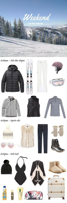 What to pack for a ski trip. Whether you're a snow bunny or a boarder chick, I've listed everything you need to bring for your next vacation in the mountains. Whether you are traveling to Vail in Colorado or Lake Tahoe in California, you'll be set with th