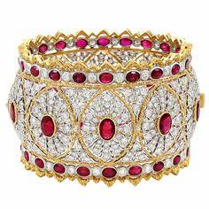diamonds' and rubies' glittering beauty