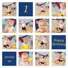 Baby boy celebrating his first birthday with a primary colour cake smash! | Brisbane Family Child Cake Smash Baby Photographer | Mummy-n-Me Photography