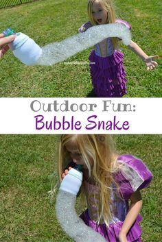 Outdoor Fun: How to make Bubble Snakes + learn about the new all® Fresh Clean Essentials - sulfate free #allEssentials #ad | mybigfathaappylife.com