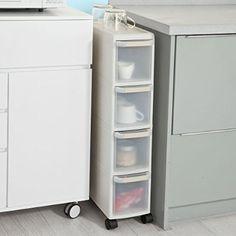 Attraktiv SoBuy® Rollwagen Mit Vier Schüben, Nischenwagen, Schubladencontainer,  Küchenregal, FRG41 HG