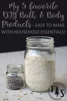 My 5 Favorite DIY Bath & Body Products - Easily made with household essentials! @ http://www.thriveorsurvive.us