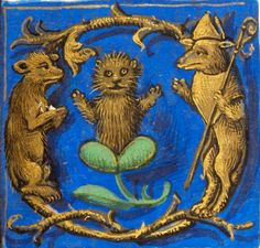 Golden kitten, 'Hours of Joanna the Mad', Bruges 1486-1506 (BL, Add 18852, fol. 412r).