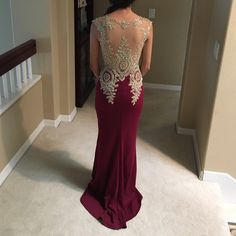 Dresses - Maroon and gold prom/formal dress