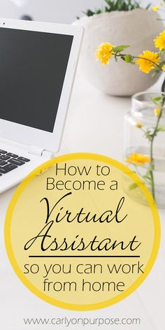 work from home jobs are becoming more popular! Become a virtual assistant and earn money from home. (It can even be a side hustle!)