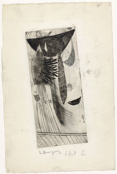 Louise Bourgeois. Pendus Fragile. c. 1948 Soft ground etching and engraving, with pencil and black ink additions