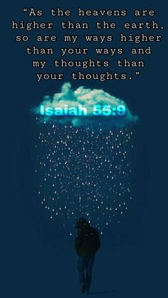 His ways are higher✝️ Prayer Verses, Bible Verses Quotes, Bible Scriptures, Faith Quotes, Isaiah 55, All That Matters, Bible Truth, Favorite Bible Verses, God Jesus