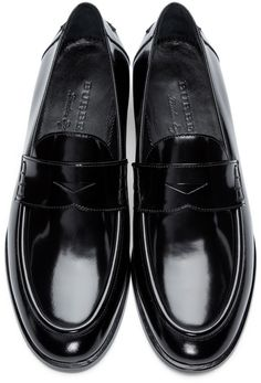Burberry - Black Patent Leather Oban Loafers