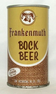 Frankenmuth Bock Beer 12 oz Pull Top Beer Can South Bend Indiana