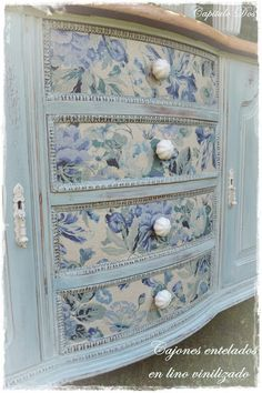 Fabric on drawers