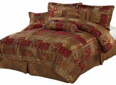 KINGLINEN.COM - (matching drapes)  7 Piece Venezia Chenille Comforter Set