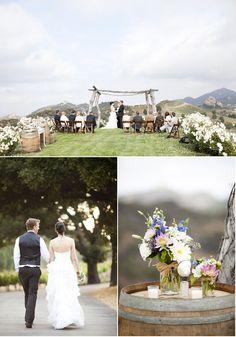 Saddlerock Ranch Wedding by Caroline Tran Photographer | Style Me Pretty
