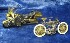 "Harley Davidson 100th Anniversary Items | 2003 HARLEY DAVIDSON - 100th Anniversary"" Hallmark Ornament Set ..."