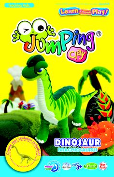 One of the amazing Dino's in our series range. Includes step-by-step instructions, a skeleton, our air dry JumpingClay (everything you need) to make your very own toy. Only £5.00. Happy Modelling