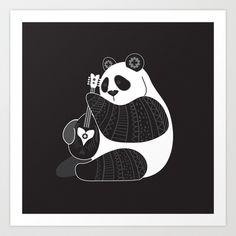 Mandolin Panda Art Print by Kate McLelland - $22.88