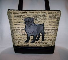 A personal favorite from my Etsy shop https://www.etsy.com/listing/506428959/black-pug-purse-in-oscars-roll-call