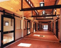 Beautiful barn design! Horse stalls