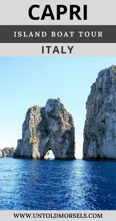 Capri, Italy: tour the beautiful island of Capri by boat. Day trip from Sorrento and the Amalfi Coast by private boat via @untoldmorsels